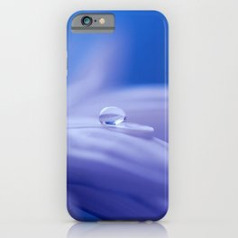 Blue Flower Blossom Nature Macro Photography iPhone Case