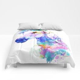 Horse Watercolor, Horse Print, Watercolor Print, Watercolor Animal, Horse Painting, Horse Gift Print Comforters