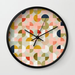 shapes mid century modern abstract Wall Clock