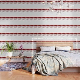 Blood Dripping White Wallpaper