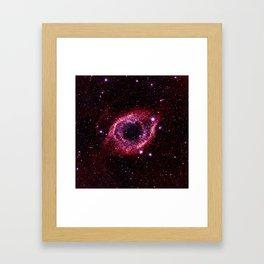 Magenta Pink helix nebula Framed Art Print