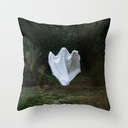 Floating Sheet Ghost Throw Pillow
