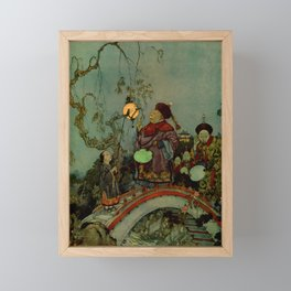 """""""In Search of a Nightingale"""" by Edmund Dulac Framed Mini Art Print"""