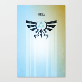 The Legend of Zelda - Hyrule Rising Poster Canvas Print