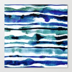Laguna Watercolor Stripe Canvas Print