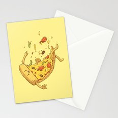 Pizza fall Stationery Cards