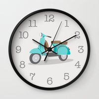 amy hamilton Wall Clocks featuring LH75 by LHD2