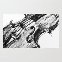 Black Violin Rug