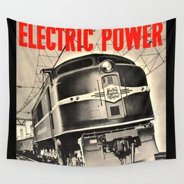 Electric Power Wall Tapestry