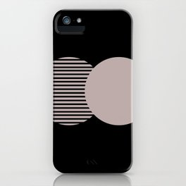 Line Artwork, Line Poster, Wall Hanging, Geometry Art, Minimalist Black and White, Abstract Print iPhone Case