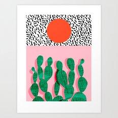 Spazz - throwback memphis 1980s style retro vintage texture illustration decor design style hipster Art Print