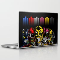 power rangers Laptop & iPad Skins featuring Mighty Morphin Zombie Rangers by of the dead designs
