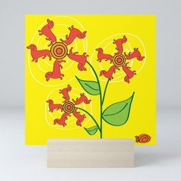 Doxie Flower Mini Art Print