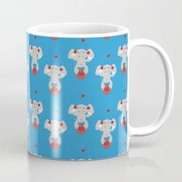 Juggling elephant illustration plus pattern design Coffee Mug