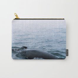 Humpback whale in the minimalist fog - photographing animals Carry-All Pouch