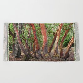 LOST IN MADRONA TREE WOODLAND Beach Towel