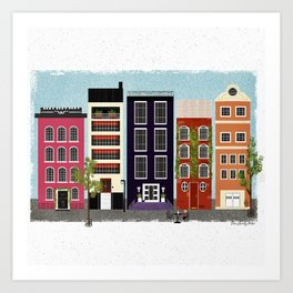 canal houses :: 1 of 2 Art Print
