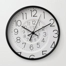 Spiral Clock Droste Wall Clock