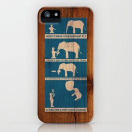 how to make your elephant fly iPhone Case