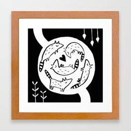 Raccoon Nest Framed Art Print