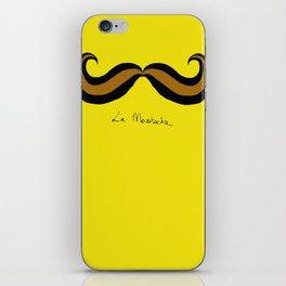 Monsieur Mustard Moustache iPhone Skin