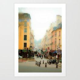 Side streets of Paris Art Print