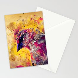spotted madagascar fody wslsh Stationery Cards