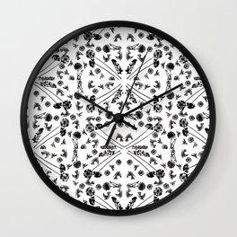 Bird & Flower Pattern Wall Clock