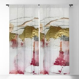 Untranslated Stars: a minimal, abstract piece in gold, pink, and white by Alyssa Hamilton Art Blackout Curtain