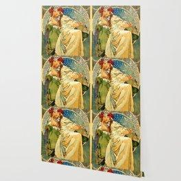 """Alphonse Mucha  """"Princess Hyacinth"""" Wallpaper"""