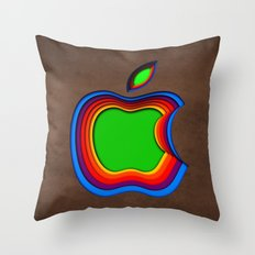 Colourful Apple Throw Pillow