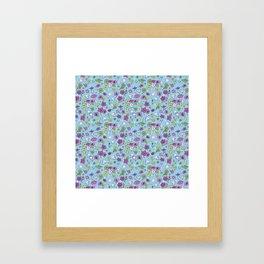 Flowers, Clovers & Diamonds Framed Art Print