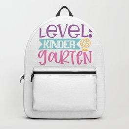Level Kinder Garten - Funny School humor - Cute typography - Lovely kid quotes illustration Backpack