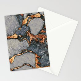 GREY & GOLD GEMSTONE Stationery Cards