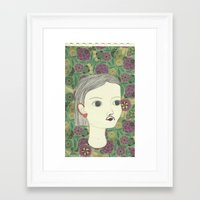 moustache Framed Art Prints featuring moustache by Willy Ollero