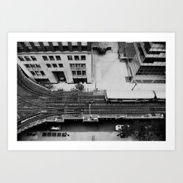 looking down on the tracks ... Art Print