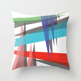 Ambient 19 on white Throw Pillow
