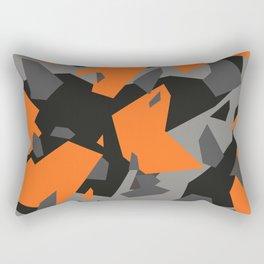 Black\Grey\Orange Geometric camo Rectangular Pillow