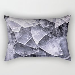 Cracked Ice Tiles In Lake Shore  Rectangular Pillow