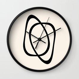 Interlocking Two A - Minimalist Line Abstract Wall Clock