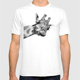 Black and white giraffe T-shirt