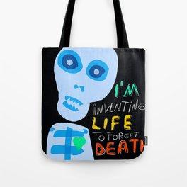Street Art Graffiti Inventing Life Tote Bag
