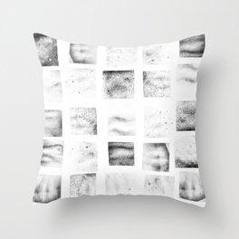 Texture Stamps Throw Pillow