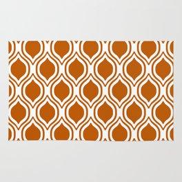 Texas longhorns orange and white university college texan football ogee Rug