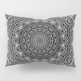 Zen Black and white mandala Sophisticated ornament Pillow Sham