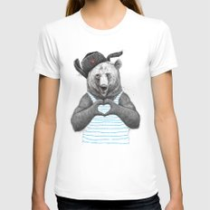 from russia with love MEDIUM Womens Fitted Tee White