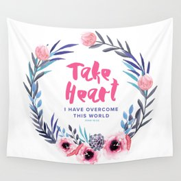 John 16:33 Take Heart Wall Tapestry