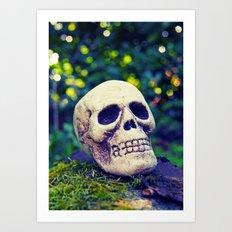Outdoor skull Art Print