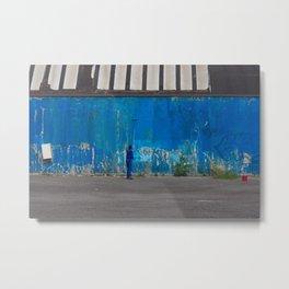 Paint it blue Metal Print