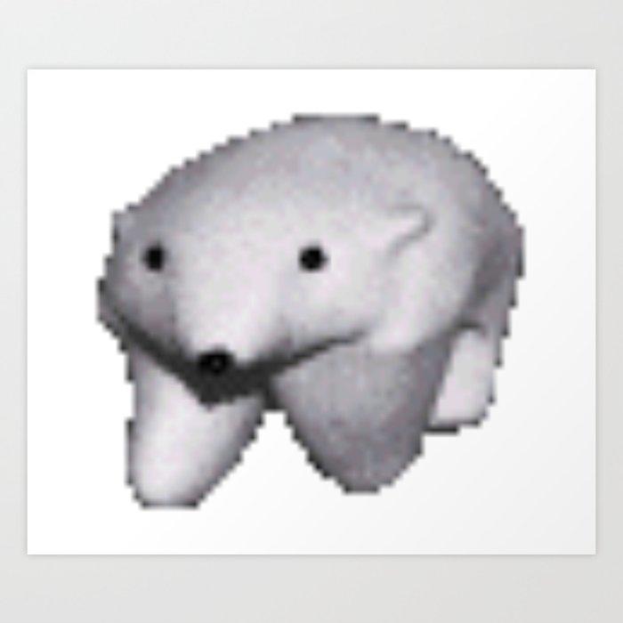 Polar Bear Meme Art Print By Stertube Society6